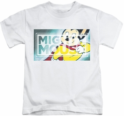 Mighty Mouse kids t-shirt Mighty Rectangle white