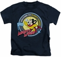 Mighty Mouse kids t-shirt Planet Cheese navy