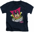 Mighty Mouse kids t-shirt The Mightiest navy