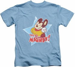 Mighty Mouse kids t-shirt You're Mighty carolina blue