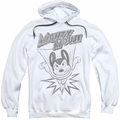 Mighty Mouse pull-over hoodie Bursting Out adult white