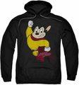 Mighty Mouse pull-over hoodie Classic Hero adult black