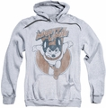 Mighty Mouse pull-over hoodie Flying With Purpose adult athletic heather