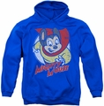 Mighty Mouse pull-over hoodie Mighty Circle adult royal blue