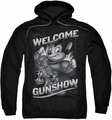 Mighty Mouse pull-over hoodie Mighty Gunshow adult black