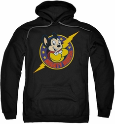 Mighty Mouse pull-over hoodie Mighty Hero adult black