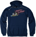 Mighty Mouse pull-over hoodie Mighty Retro adult navy