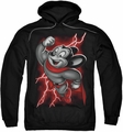 Mighty Mouse pull-over hoodie Mighty Storm adult black