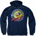 Mighty Mouse pull-over hoodie Planet Cheese adult navy