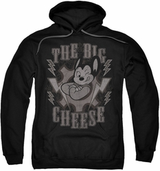 Mighty Mouse pull-over hoodie The Big Cheese adult black