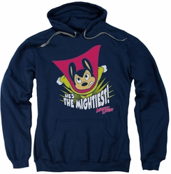 Mighty Mouse pull-over hoodie The Mightiest adult navy