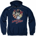 Mighty Mouse pull-over hoodie The One The Only adult navy