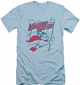Mighty Mouse slim-fit t-shirt Mighty Flag mens light blue