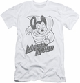 Mighty Mouse slim-fit t-shirt Mighty Sketch mens white