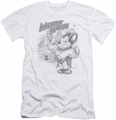 Mighty Mouse slim-fit t-shirt Protect And Serve mens white