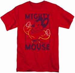 Mighty Mouse t-shirt Break The Box mens red