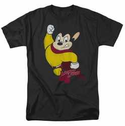 Mighty Mouse t-shirt Classic Hero mens black