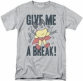 Mighty Mouse t-shirt Give Me A Break mens athletic heather