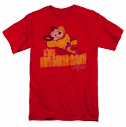 Mighty Mouse t-shirt I'm Mighty mens red