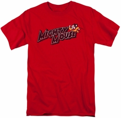 Mighty Mouse t-shirt Might Logo mens red