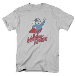 Mighty Mouse t-shirt Mighty Blast Off mens silver