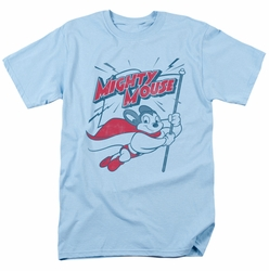 Mighty Mouse t-shirt Mighty Flag mens light blue