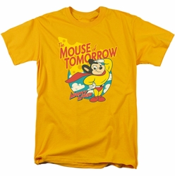 Mighty Mouse t-shirt Mouse Of Tomorrow mens gold