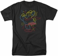 Mighty Mouse t-shirt Neon Hero mens black