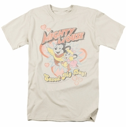 Mighty Mouse t-shirt Saved My Day mens cream