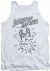 Mighty Mouse tank top Bursting Out mens white