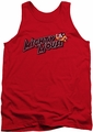 Mighty Mouse tank top Might Logo mens red