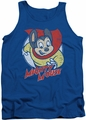 Mighty Mouse tank top Mighty Circle mens royal blue