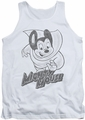 Mighty Mouse tank top Mighty Sketch mens white