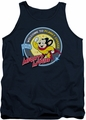 Mighty Mouse tank top Planet Cheese mens navy