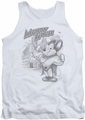 Mighty Mouse tank top Protect And Serve mens white