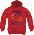 Mighty Mouse youth teen hoodie Break The Box red