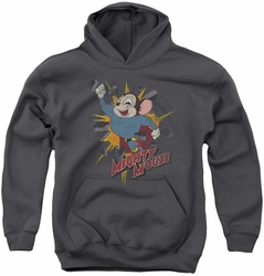 Mighty Mouse youth teen hoodie Break Through charcoal