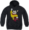 Mighty Mouse youth teen hoodie Classic Hero black
