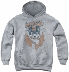 Mighty Mouse youth teen hoodie Flying With Purpose athletic heather