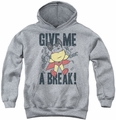 Mighty Mouse youth teen hoodie Give Me A Break athletic heather