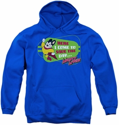Mighty Mouse youth teen hoodie Here I Come royal blue