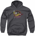 Mighty Mouse youth teen hoodie Mighty Circle charcoal