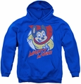 Mighty Mouse youth teen hoodie Mighty Circle royal blue