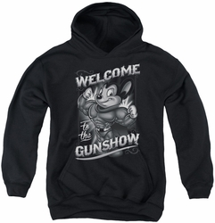 Mighty Mouse youth teen hoodie Mighty Gunshow black