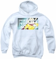 Mighty Mouse youth teen hoodie Mighty Rectangle white