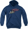 Mighty Mouse youth teen hoodie Mighty Retro navy