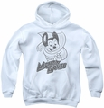 Mighty Mouse youth teen hoodie Mighty Sketch white