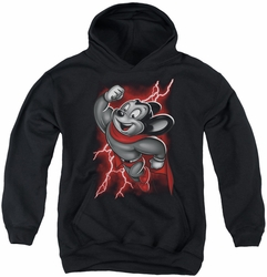Mighty Mouse youth teen hoodie Mighty Storm black