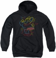 Mighty Mouse youth teen hoodie Neon Hero black