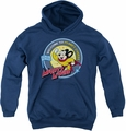 Mighty Mouse youth teen hoodie Planet Cheese navy